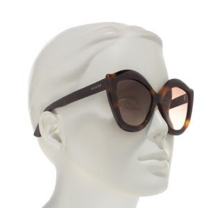 Authentic GUCCI Brown Gradient Cat Eye Sunglasses